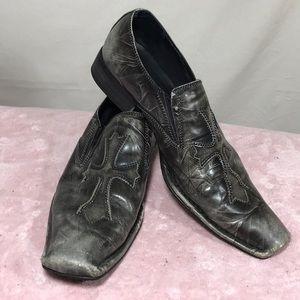 Aldo Kamen distressed dress shoes/ cross motif. …